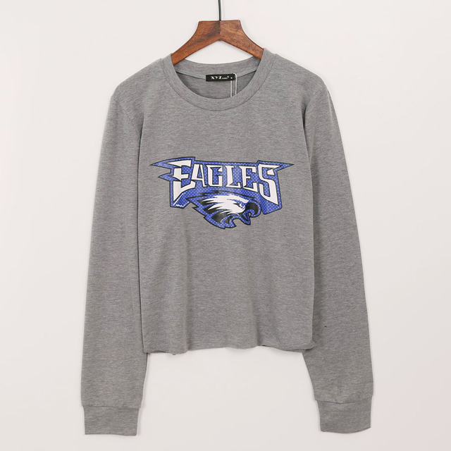 2017 Fashion Cropped Sweatshirt Hoodies Women EAGLES Print Tracksuits Women  Long Sleeve Crop Top Sweatshirt Hoody Woman 3cc5ab892