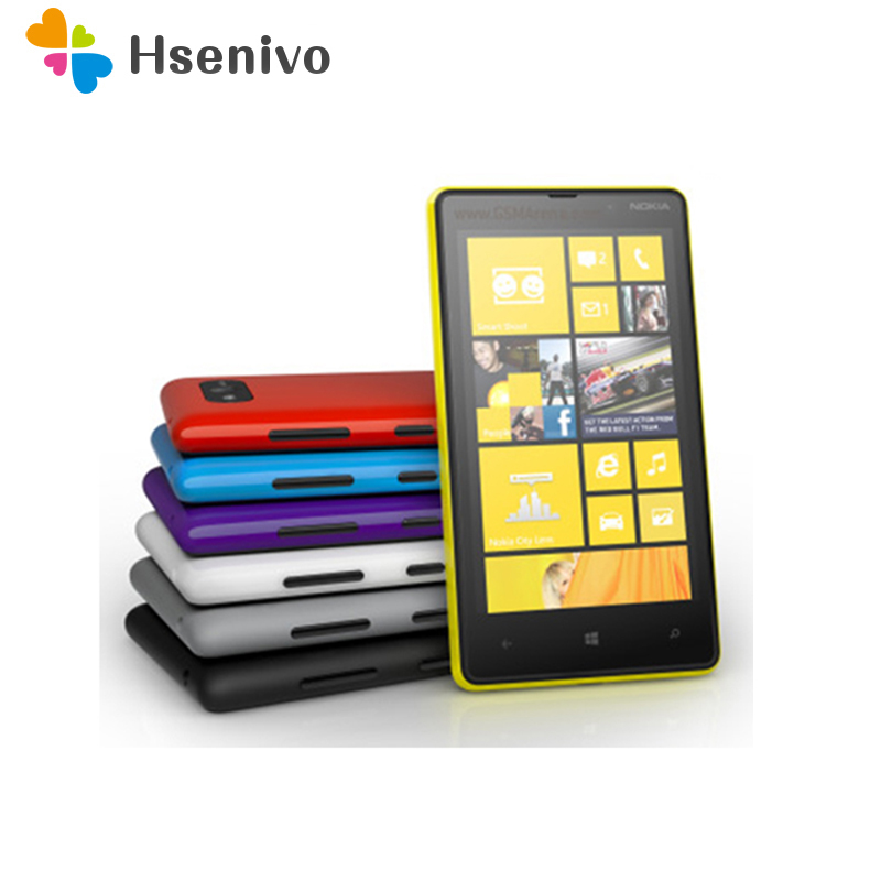 Hot koop Originele Ontgrendeld Nokia Lumia 820 telefoon GSM 3G 4G 4.3 '' Touch 8 GB NFC WIFI GPS 8MP Camera Ontgrendeld Windows Mobiele telefoon