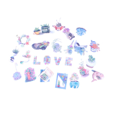 15pcs/lot Japanese Style My Flower World Series Sticker Paper Decoration Diy Ablum Diary Scrapbooking Label Stickers