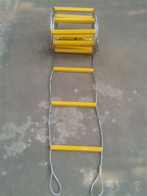 Have An Inquiring Mind 10m High Strength Steel Wire Rope Ladder Escape Folding Ladders Fire Ladder Moderate Price