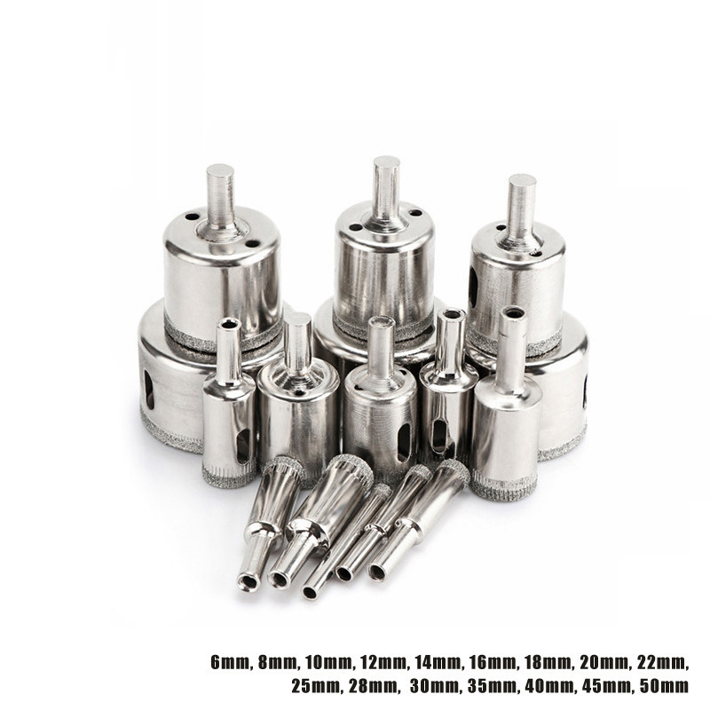 16Pcs 6-50mm Hole Saw Diamond Drill Bit Set 6-50mm Glass Tile Hollow Core Extractor Remover Too Hole Saw Concrete