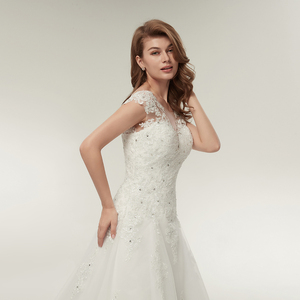 Image 5 - Fansmile Tulle Mariage Vestidos de Novia Embroidery Lace Mermaid Wedding Dress 2020 Bridal Gowns Plus Size Customized FSM 138M