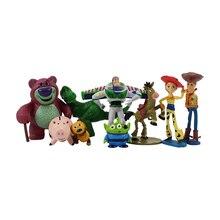 Nueva 9 unids set 5-12 cm Toy Story 3 zumbido encendedor Woody Jessie  figuras de acción PVC figura de acción modelo toy Boy 81d32555d0c