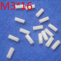 M3*16 16mm 1 pcs white Nylon Hex Female-Female Standoff Spacer Threaded Hexagonal Spacer Standoff Spacer brand new plastic screw