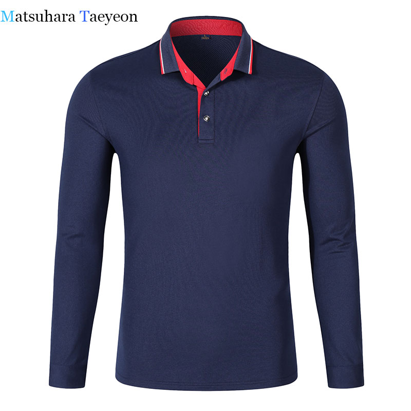 Solid Colors New 2017 Spring Autumn Men   Polo   Shirt Long Sleeve 94% Cotton Good Quality Plus Size S-3XL