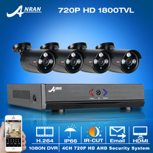 Las más! 4CH 1800TVL 1080N HDMI DVR Kit & 720 P HD IR Exterior Resistente A la Intemperie de Seguridad AHD CCTV Cámaras y Video Casero Sistema de vigilancia