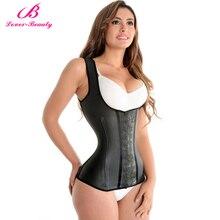 Lover Beauty corset, gilet en Latex, Corset de taille, sous le buste, dentraînement à la taille, cintré et modelant le corps, bon marché