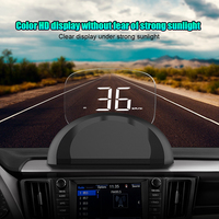 C700s Car HUD Head Up Display OBDII+GPS System Overspeed Warning Mirror Digital Projection Car Head Up Display