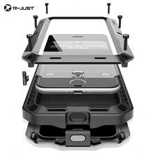 I7 Plus Роскошные мощный ударопрочный призма Водонепроницаемый металлический чехол для телефона iphone 5S SE 6 6S 6 S плюс 7 7 плюс Чехол