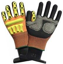 цена на Anti Vibration Safety Glove Oil Gas Industrial Shock Resistant Glove Cut Proof Impact Resistant Oil field Mechanics Work Glove