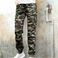 Camouflage Joggers Women Military Style Camo Cargo Pants 2017 New 100% Cotton Multi-Pockets Ladies Casual Pants Free Shipping