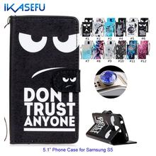 Cartoon Stand Wallet Leather Case Cover for Samsung Galaxy S5 Phone Cover Card Slot Flip Case Coque for Samsung Galaxy S5 I9600