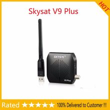 SKYSAT V9 plus DVB-S2 Receiver support CCCamd Newcamd autoroll powervu Biss WiFi 3G Youtube USB PVR Full HD same as Freesat V7(China)