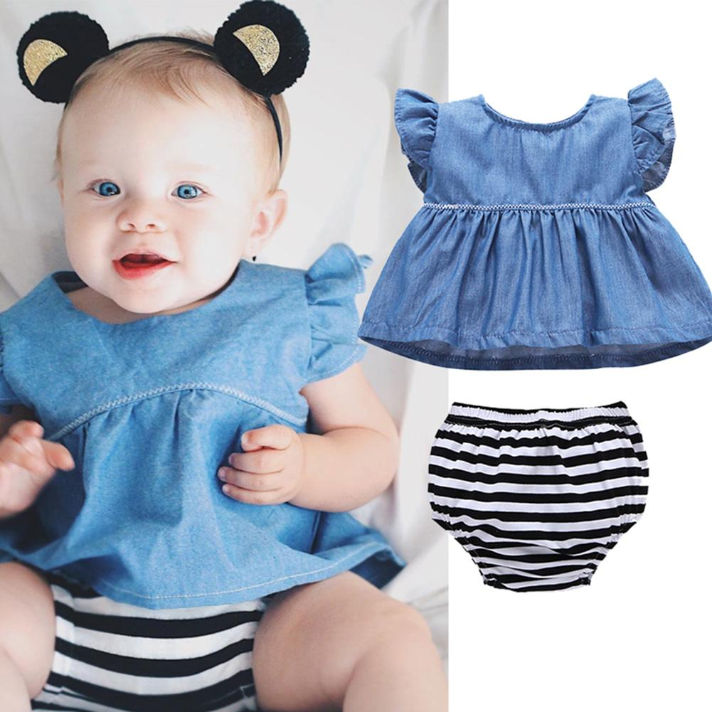Two-piece Set European And American Style Fashionable Baby Clothing Baby Shorts Set For Infants Aged 0-3 Years