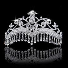 Beauty Tassel Tiara Crown Hair Jewelry Quality New Style Headdress Bride Wedding Tiaras Pro Crowns Hair accessories
