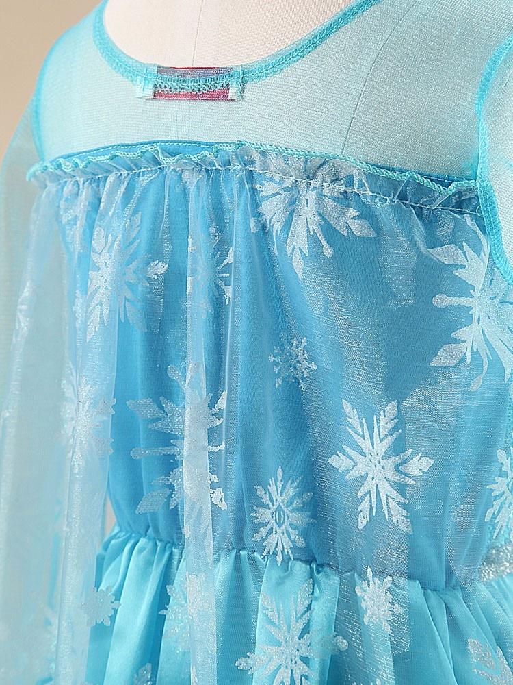 Girls Elsa Dress Costume Princess Anna Dresses Cosplay Party Summer Baby Kids Children Fancy Baby Girl Clothes elza vestidos