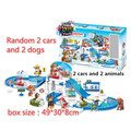 DP Store Original Patrulla Toy For BOY Vehicle Model Parking Lot Pat Patrol Dog Pow Canina Toys Best Kids Christmas Juguetes