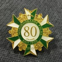 Personality engraving commemorative badge electroplated gold paint badges