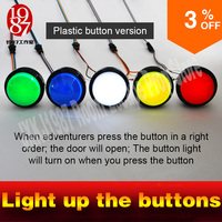 5 buttons for real life room escape room game props for escape room light up four bigl buttons in order to unlock lock and r