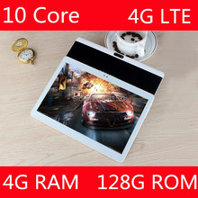 1920*1200 IPS 10.1 Inch Android 7.0 Tablet PC Tab Pad 4GB+128GB ROM 10 Core Play Store Bluetooth 4G Phone Call 10