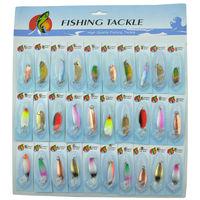 الصيد سبينيربايت 30 قطع متعدد الألوان سبينر الطعم الصيد تهزهز المتذبذب الطعم الصيد الصعب الطعم السنانير القفز إغراء