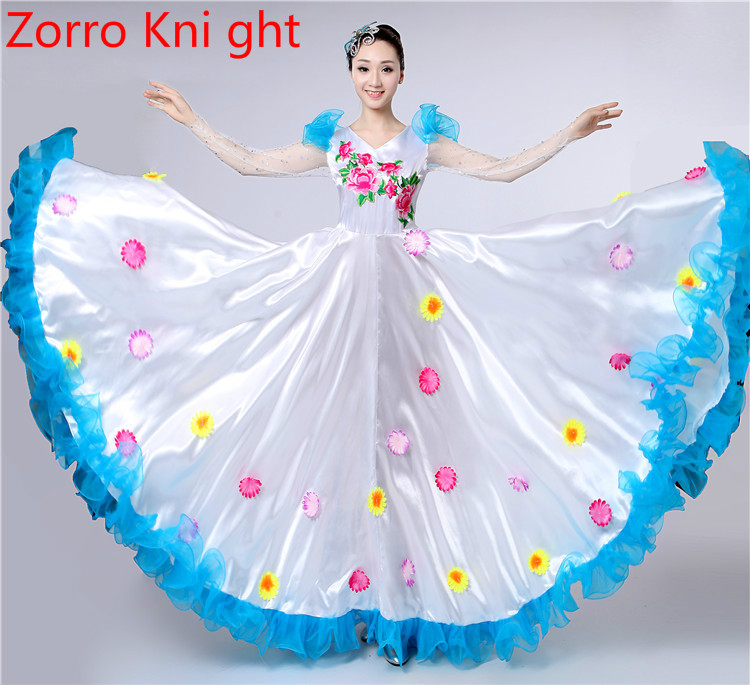 Dancing Outfit 2018 New Opening Dance Costume Show Costumes Christian Dance Performance Dress Dress Dance Adult