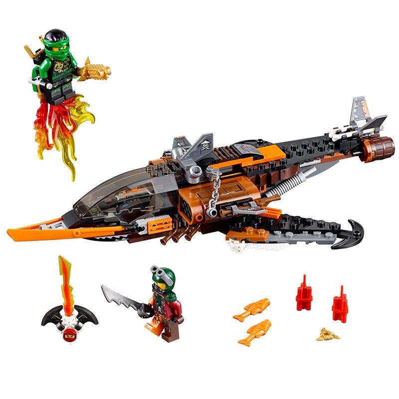 SY528 Phantom Ninja Series Sky Shark Model Lloyd Flintlocke Bricks Building Blocks Toys Minifigures Compatible With