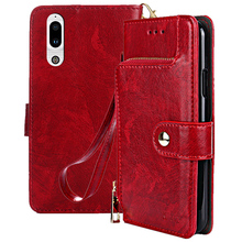 Leather Flip Case For Sharp Aquos S2 zipper Wallet Stand Phone Cover Coque cases