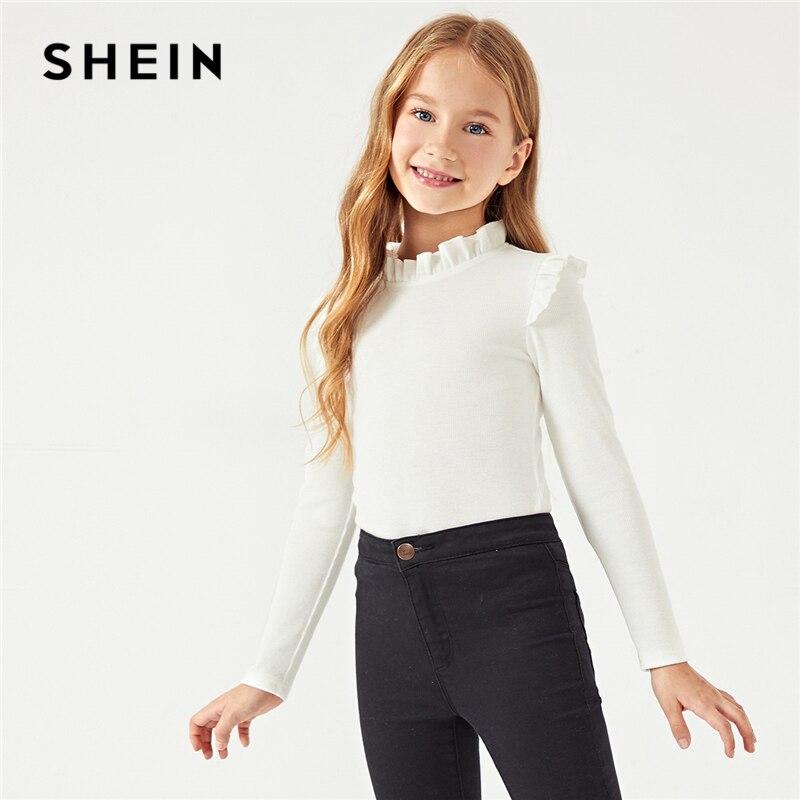 Spring Kids t-shirt Shirt Blouse Warm Girls High neck Long sleeve Cotton