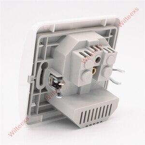 Image 5 - WILTEEXS المزدوج USB ميناء 5V 2A الكهربائية الحائط مهايئ شاحن الاتحاد الأوروبي التوصيل المقبس التبديل الطاقة قاعدة لتثبيت الكمبيوتر المحمول شحن منفذ لوحة الأبيض