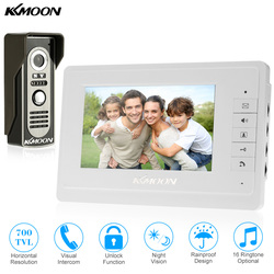 Sonnette d'interphone visuel de système de visiophone filaire de 7 avec le moniteur 1*800x480 + la caméra extérieure de 1 * 700TVL pour la Surveillance à la maison