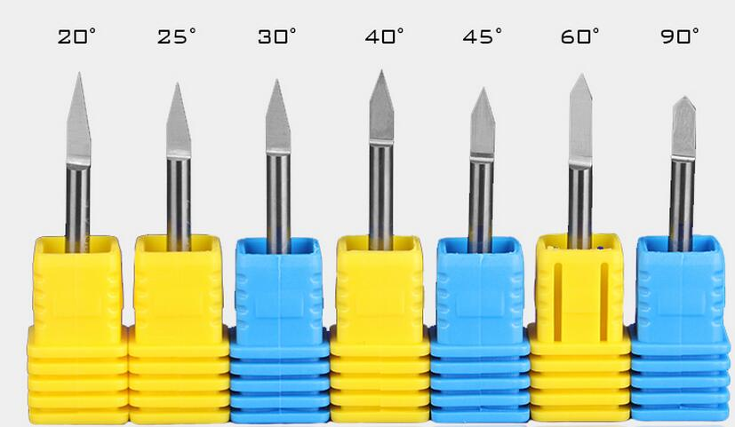 10pcs 3.175 mm*38mm CNC Engraving bits, Cutter Graver Carving Knife for PVC,Wood,Acryl ,MDF,ABS Material Cutting