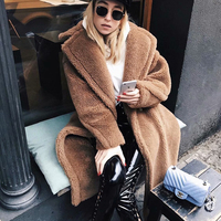 Fluffy Shaggy Faux Long women's jacket Women Fur Coat Winter womens jackets 2018 fashion Warm Jacket Plus Size streetwear women