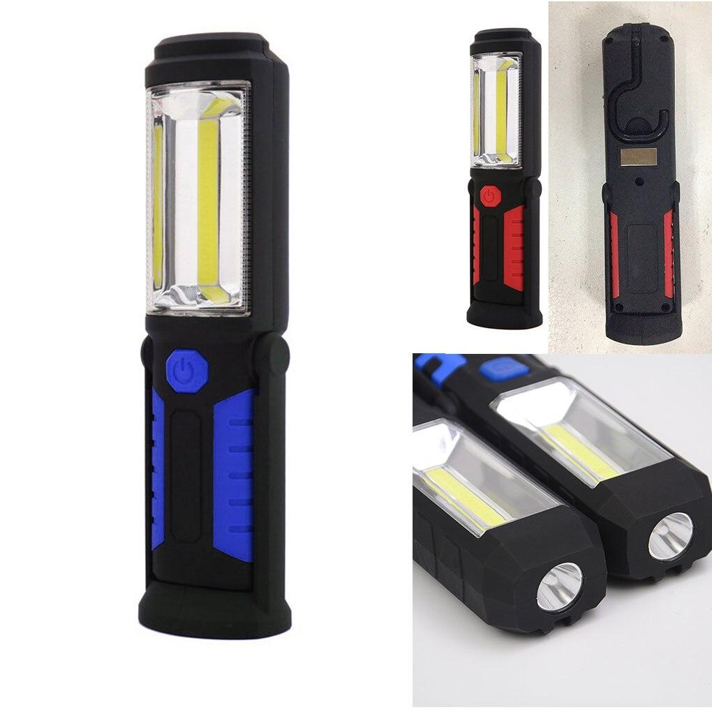 Helder Oplaadbare Werken Verlichting Cob Led Zaklamp Magnetische Stand Lamp Huishoudelijke Emergency Torch Superieure Prestatie