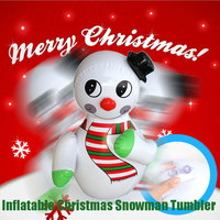 Inflatables Christmas Gifts Inflatable Snowman Model Tumbler Children's Toy Game Activity Props Party Decoration Kids Gift