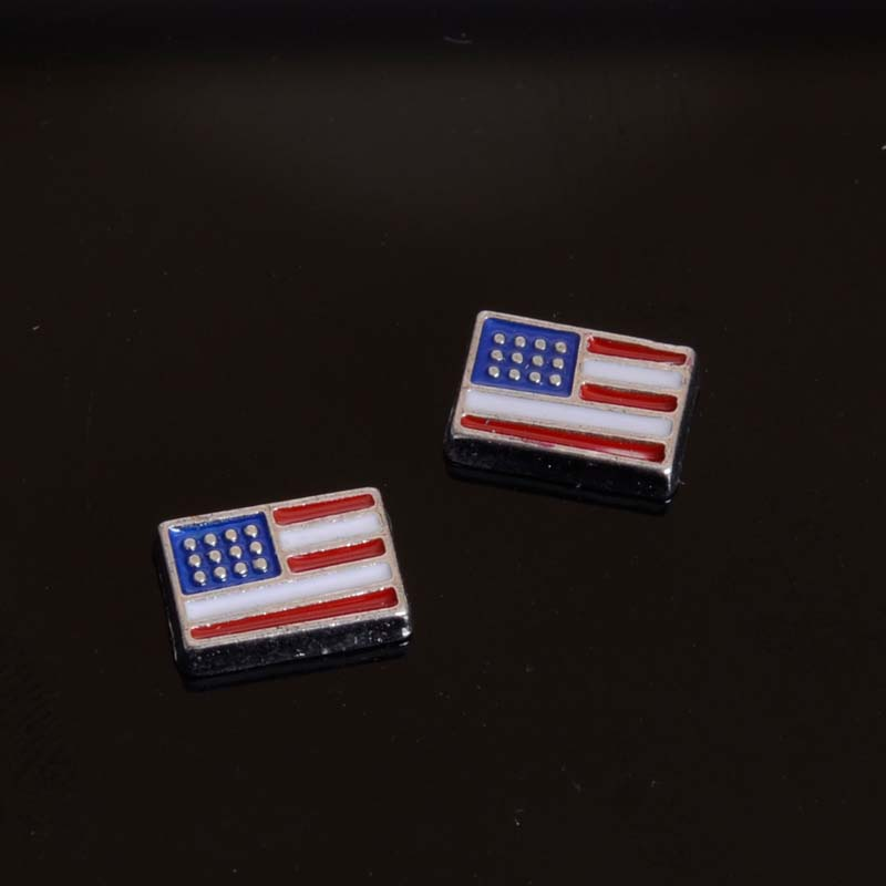 USA Flag Floating Charm For Floating Charm Lockets USA Flag Floating Charm