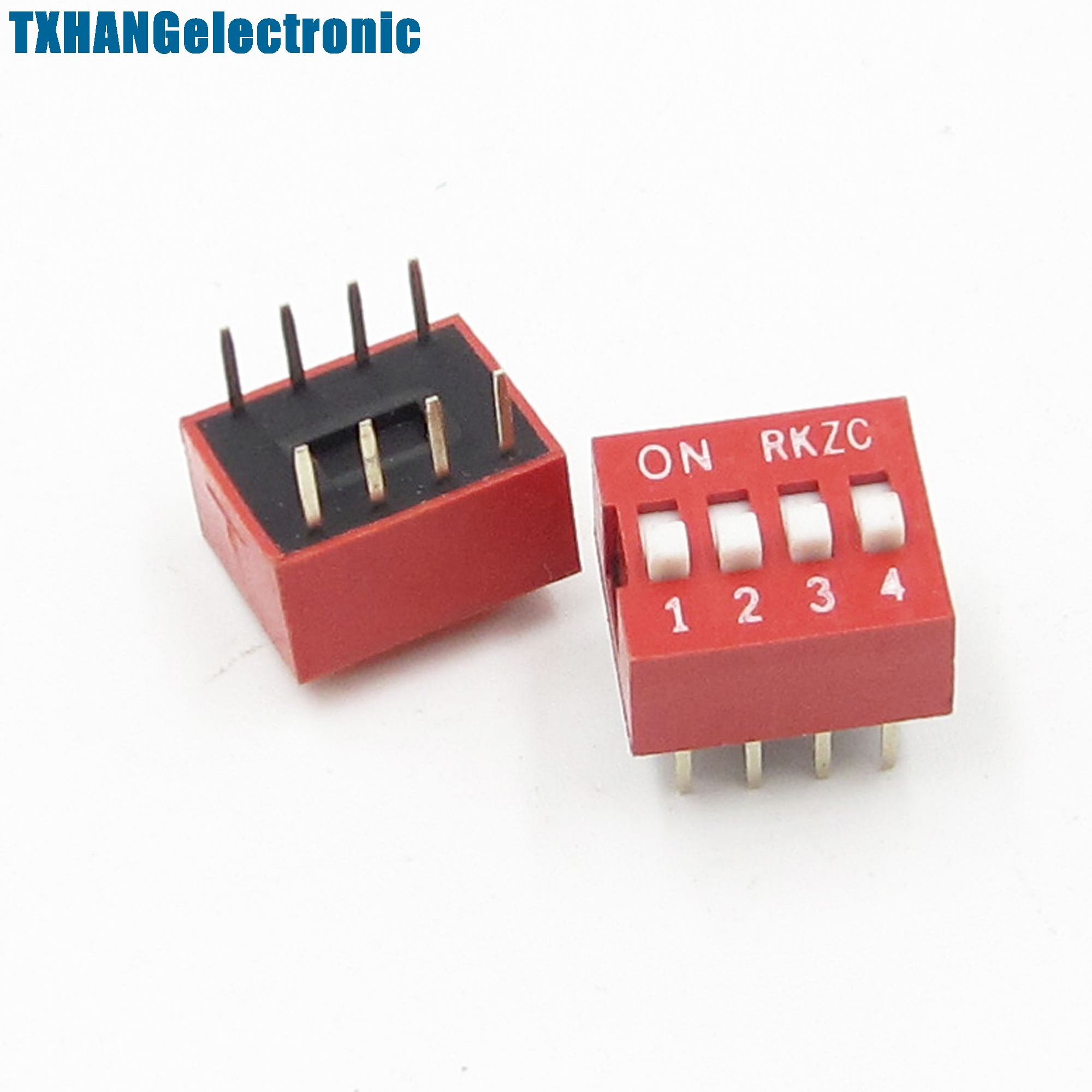 10pcs Slide Type Switch Module 2.54mm 5-bit 5 Position Way Dip Red Pitch Active Components Electronic Components & Supplies