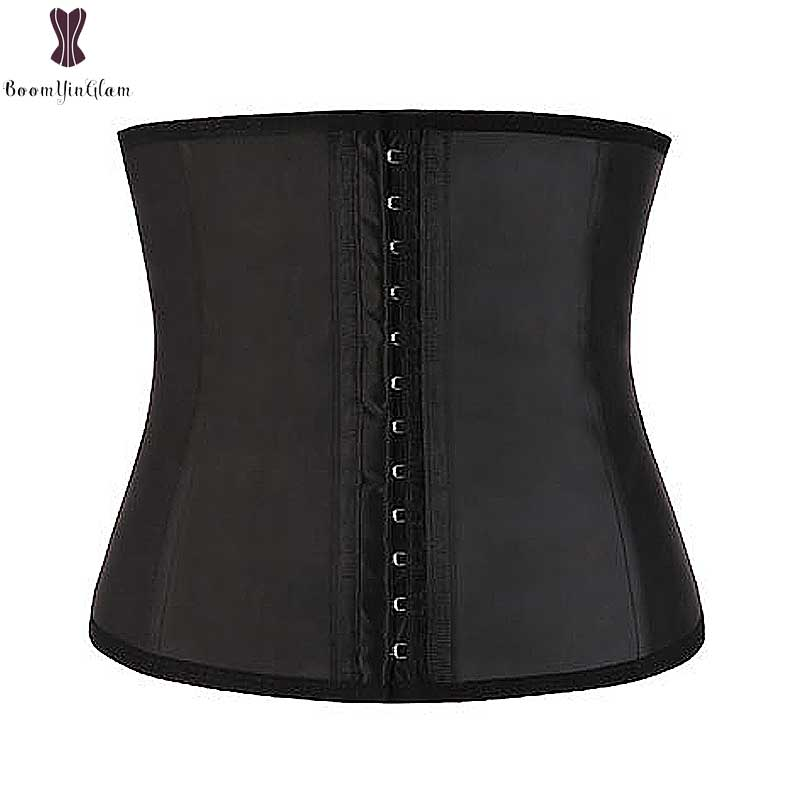 Shinning Latex   Corset   Waist Trainer Spiral Steel Boned Underbust Super Firm Weight Loss Waist Slimming Korset   Bustiers   &   Corsets