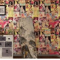 3d Vinyl Wallpaper Wall Papers Home Decor Vintage Wall Coverings Waterproof Wallpaper for Bathroom Restaurant Cafe Decor Film