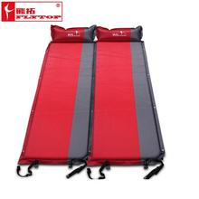 Camping mat automatic inflatable cushion widened thickened lengthened outdoor moisture pad folding lunch break beach mat цена