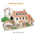 3D Wooden Puzzle Beautiful House Model Building Toys Holiday Villd Children Educational Toy 3D Jigsaw Kids Gifts