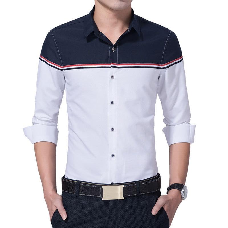 2017 Jauns rudens modes zīmols vīriešu apģērbs Slim Fit - Vīriešu apģērbi