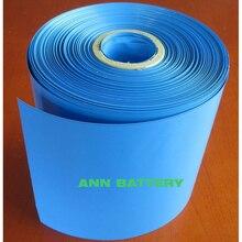 Ücretsiz Kargo lityum pil PVC W250mm Daralan tüp genişliği 250mm daralan film Mavi PVC