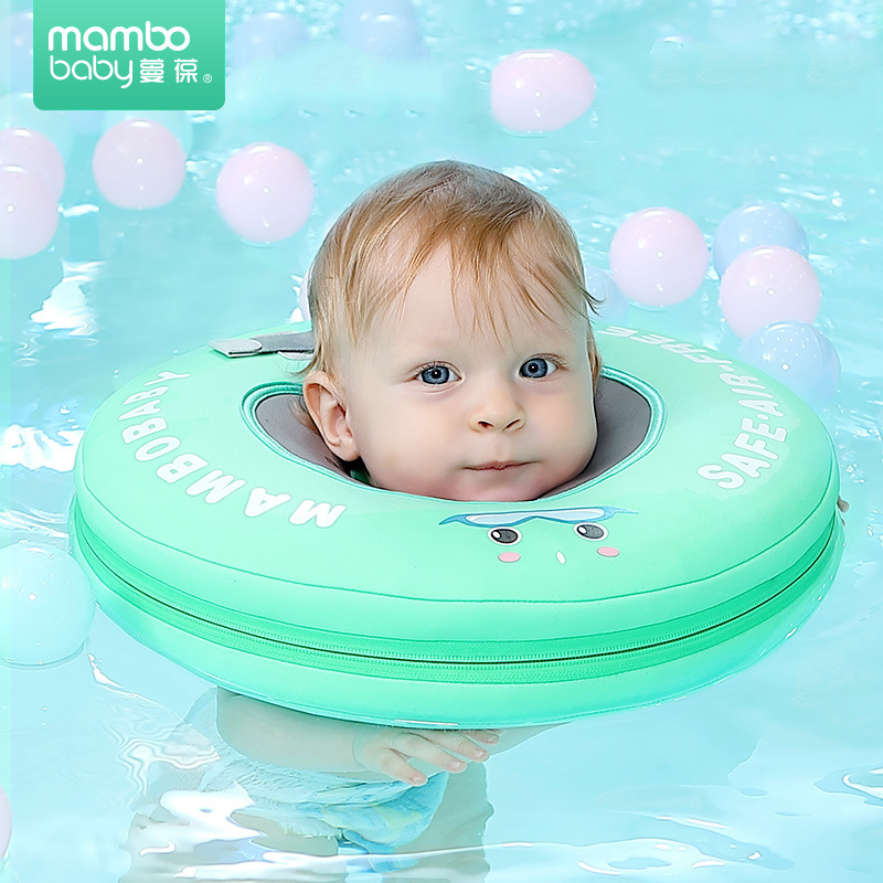 New-Cartoon-Baby-Boys-Girls-Swim-Floating-Neck-Ring-Safety-Not-Need-Inflatable-Swimming-Float-High