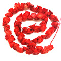 16 inches 8x10mm Red Natural Flower Carved Coral Beads Loose Strand