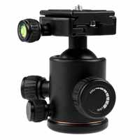 360 Degree Fluid Rotation Tripod Ball Head with Quick Release Plate Head Camera Tripod for Canon 5D markII III Rebel T6 Nikon
