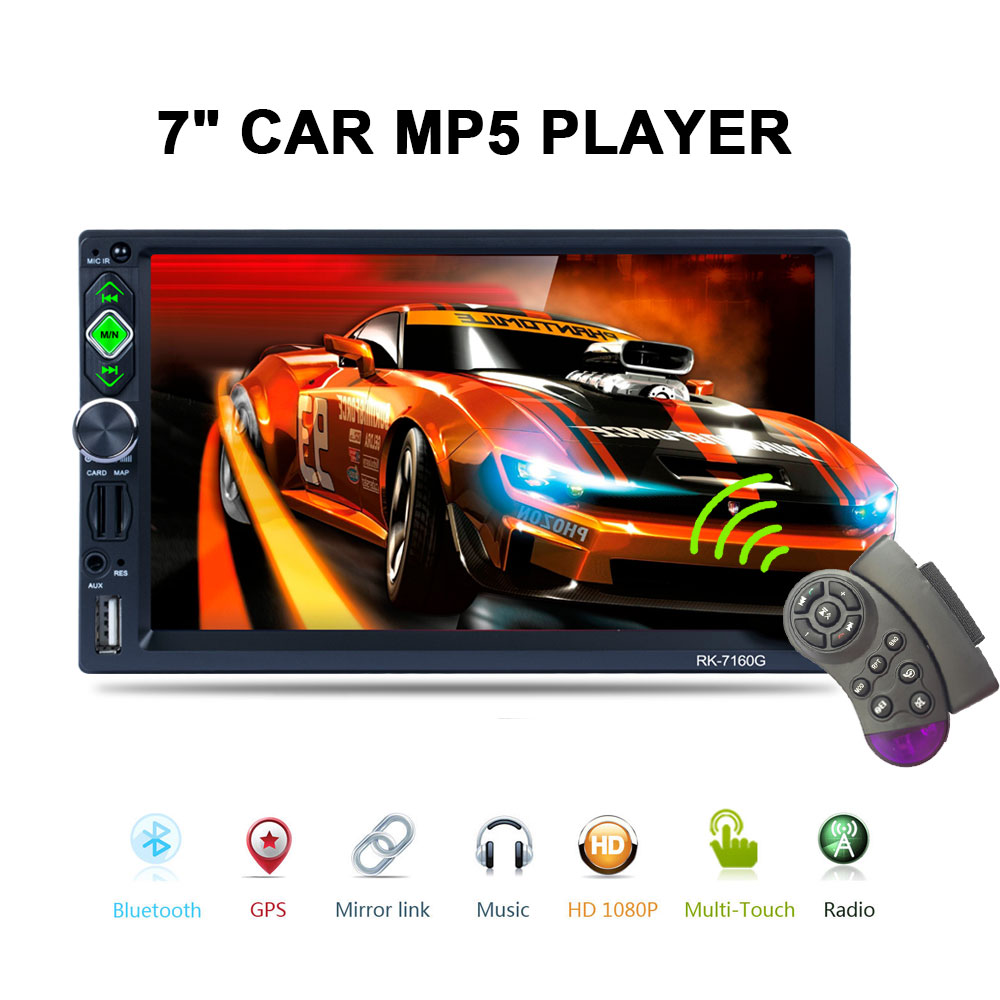 7'' 2 Din Car Radio Mp5 Player GPS Navigation Touch Screen Bluetooth Autoradio Car Audio Support Rear View Camera Car Stereo 7020g 2 din 7 inch car mp5 player bluetooth hd touch screen with gps navigation rear view camera auto fm radio autoradio ios