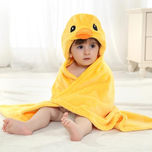 1 Peça Cobertores Do Bebê Tamanho 90*80 cm Dos Desenhos Animados do Pintainho Cobertor Quente de Alta Qualidade Recebendo Cobertor Para Recém-nascidos 0-2 Anos Unisex