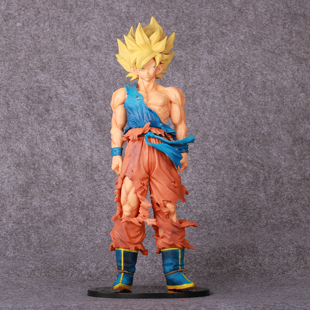 Anime Dragon Ball Z Brinquedos Action Figure Collection Model Toy Dragonball Goku Figures Kids Toys Juguetes Brinquedo 34CM a suit of stylish pure color round bracelets for women
