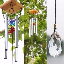 Wind Chimes with Rainbow Suncatcher Crystals